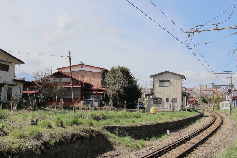 village japonais chez Shimo Yoshida photo stock