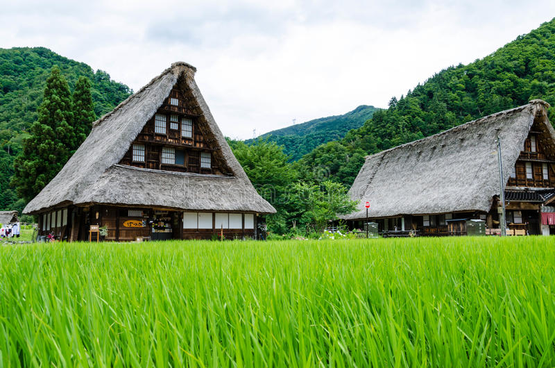 Village japonais historique image stock
