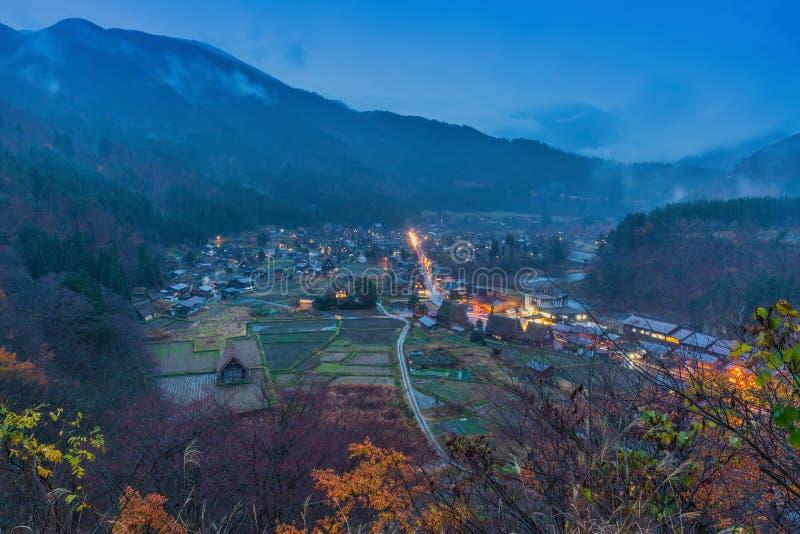 Village japonais traditionnel et historique Shirakawago photo libre de droits