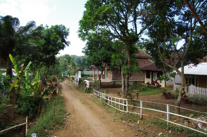 Village on the Java island in Indonesia stock photos