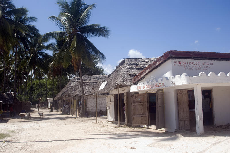 Village, Kiwengwa, Zanzibar, Tanzania. Kiwengwa is a small village in zanzibar, but its beach is one of the nicest in the world. The village itself is simple and royalty free stock image