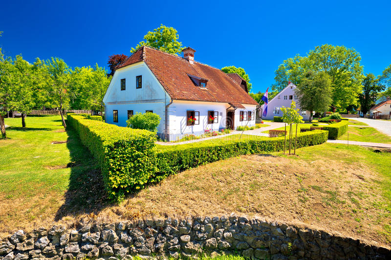 Village of Kumrovec and Josip Broz Tito birth house view royalty free stock images