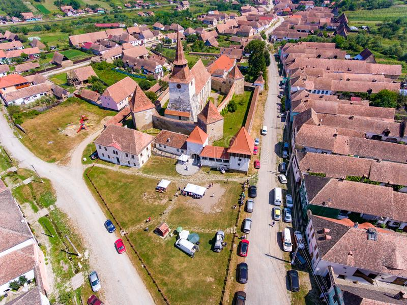 Village la Transylvanie Roumanie d'Archita Saxon image stock