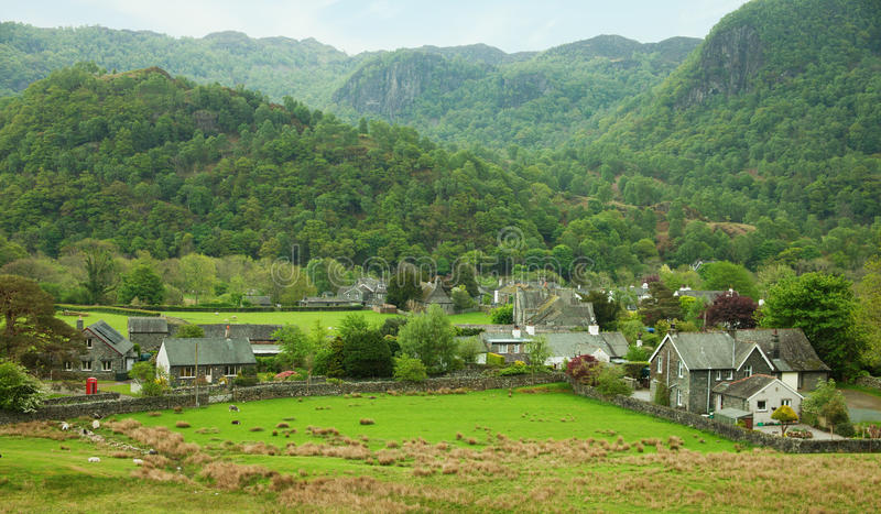 Village in Lake District royalty free stock photo