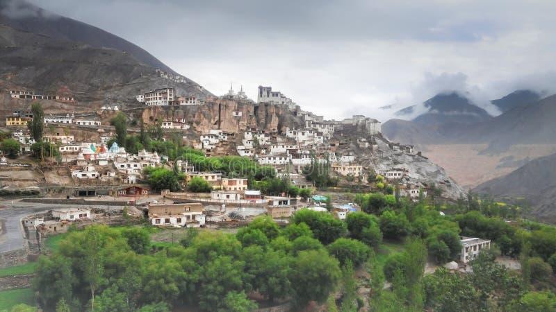 Lamayuru in the middle of the Himalaya mountain range royalty free stock photography