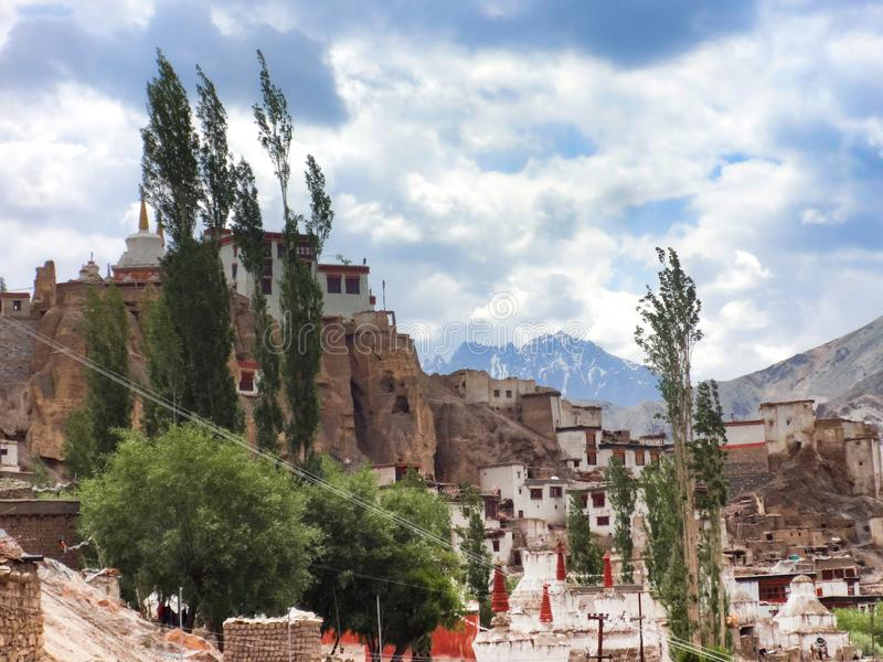 Yuru monastery in Lamayuru stock images