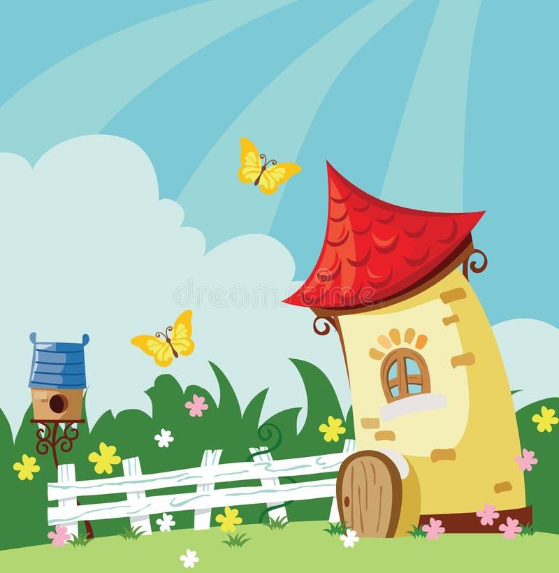 Village landscape royalty free illustration