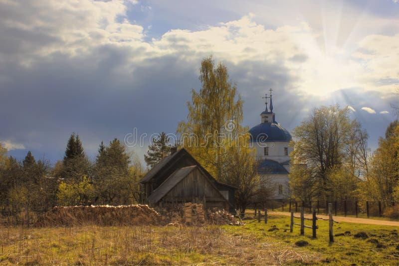 Village landscape, Russia stock photos