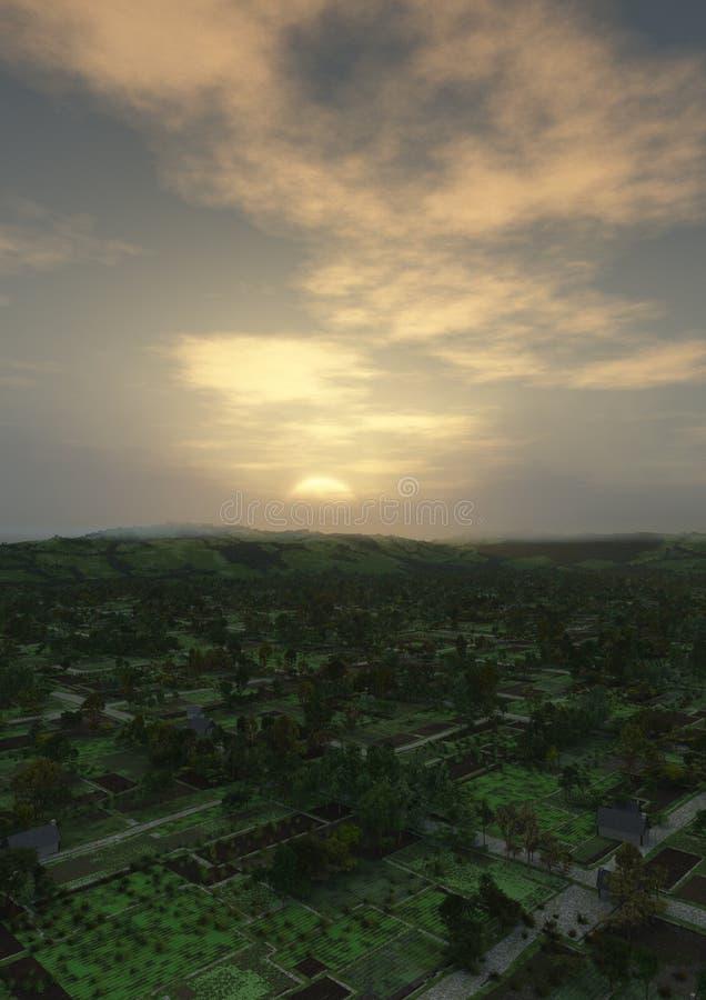 Village Landscape Vertical stock image