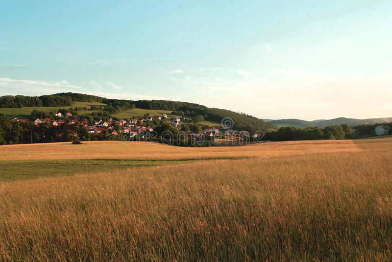 Village landscape royalty free stock photography