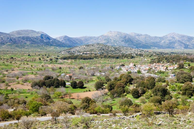 Village of the Lassithi plateau. Crete - Greece - Village of the Lassithi plateau royalty free stock photos