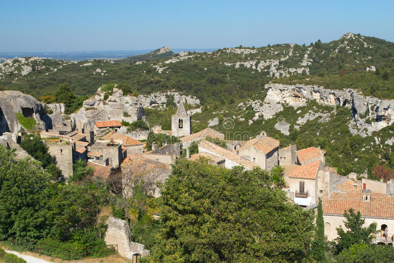 Village Les Baux De Provence In South France Stock Photos
