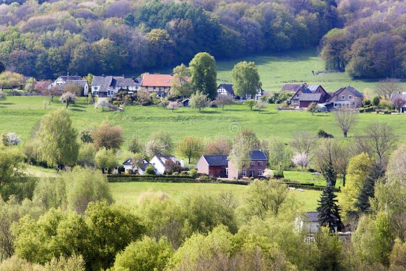 Village in Limburg stock photo
