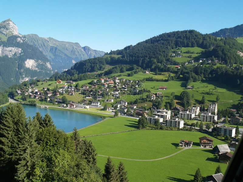 Village in Luzern switzerland stock photo