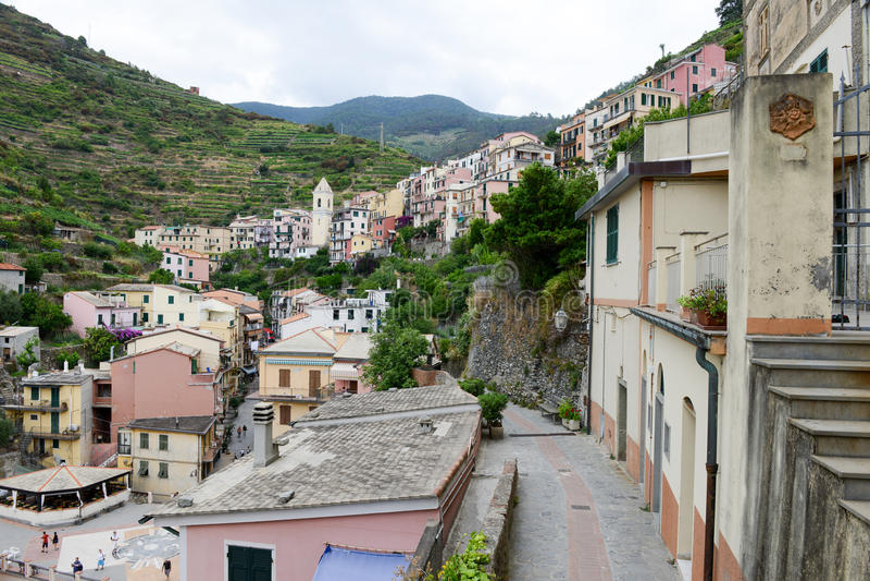 The village of Manarola on Cinque Terre royalty free stock photo
