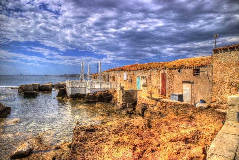 The village of Marzamemi. A small fishing village in Sicily Italy stock image