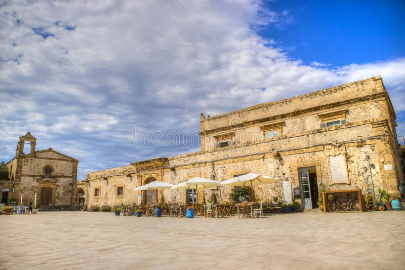 The village of Marzamemi. A small fishing village in Sicily Italy stock photo