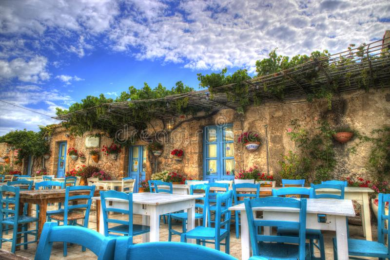 The village of Marzamemi. A small fishing village in Sicily Italy royalty free stock photography