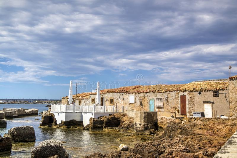 The village of Marzamemi. A small fishing village in Sicily Italy stock photography