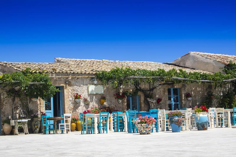 The village of Marzamemi. A small fishing village in Sicily Italy royalty free stock image