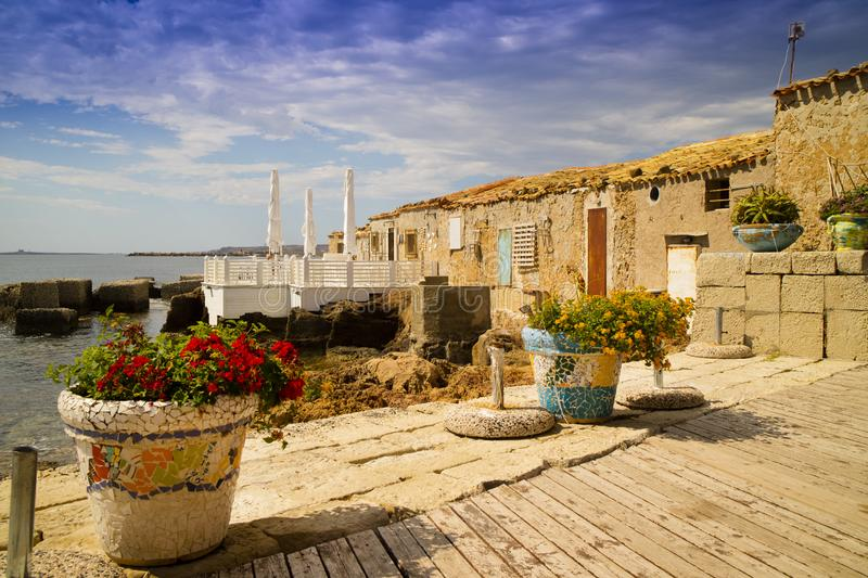 The village of Marzamemi. A small fishing village in Sicily Italy royalty free stock images