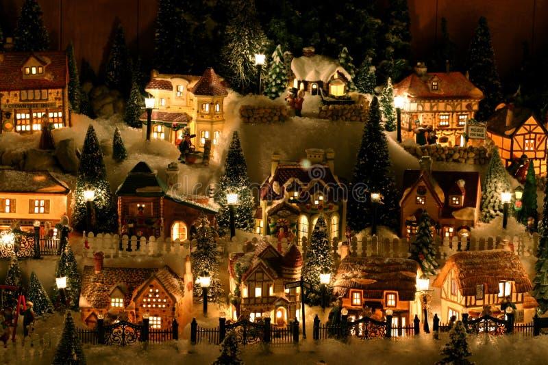 Village miniature de Noël images stock