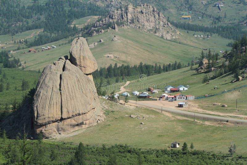 Village Mongolie de Yurt photo libre de droits