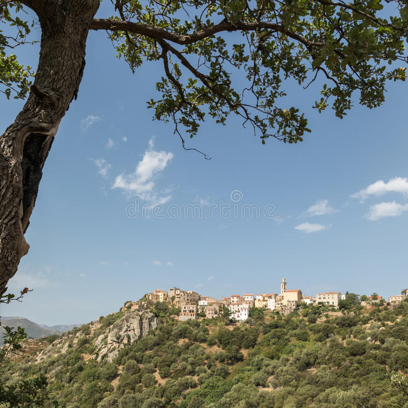 Village of Montemaggiore in the Balagne region of Corsica royalty free stock photos
