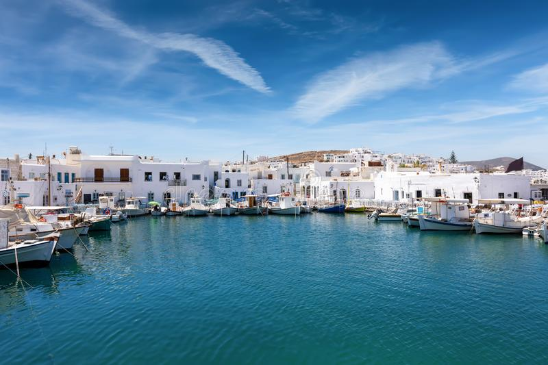 The village of Naousa on the island of Paros in Greece royalty free stock photos