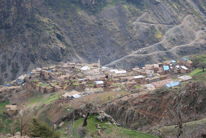 Village. A village is near botan river in siirt turkey royalty free stock images