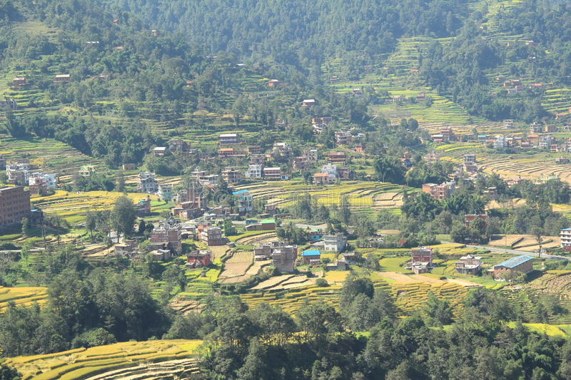 Village In Nepal. royalty free stock photo
