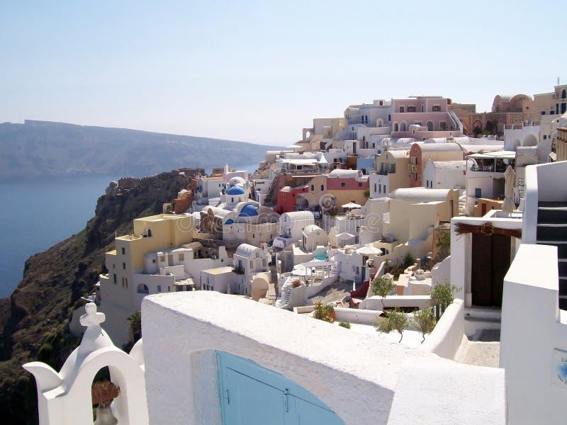 Village of Oia, Santorini stock images