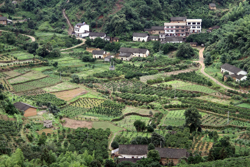 Download Village and orchards stock photo. Image of house, mountain - 26392594