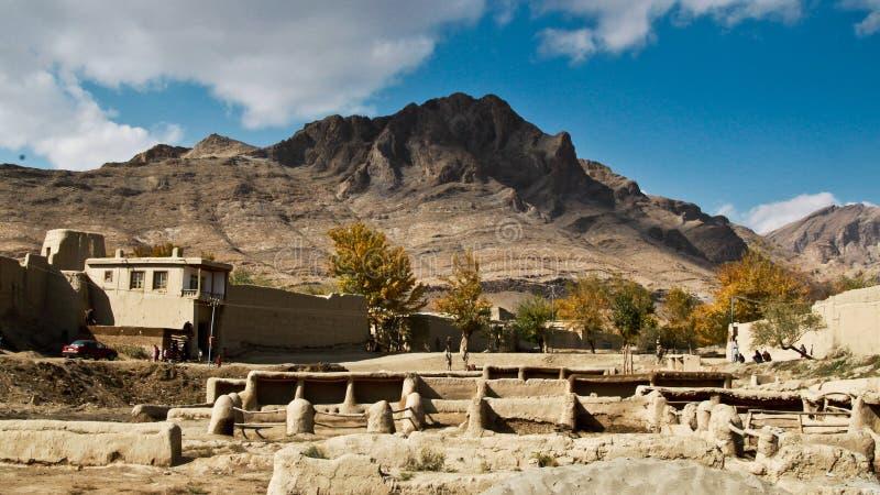 Village oriental de l'Afghanistan photos libres de droits