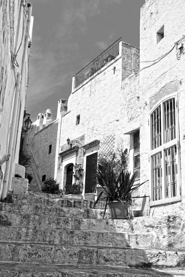 Village of Ostuni, Puglia, Italy royalty free stock photos