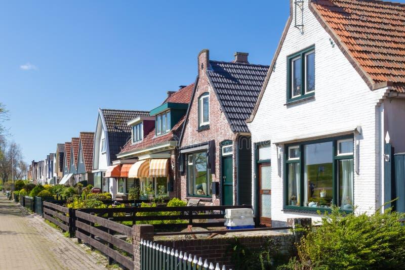 Village Oudeschild sur l'île de Texel aux Pays-Bas images stock