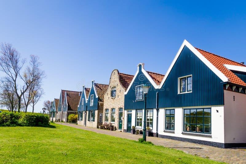 Village Oudeschild sur l'île de Texel aux Pays-Bas photos stock
