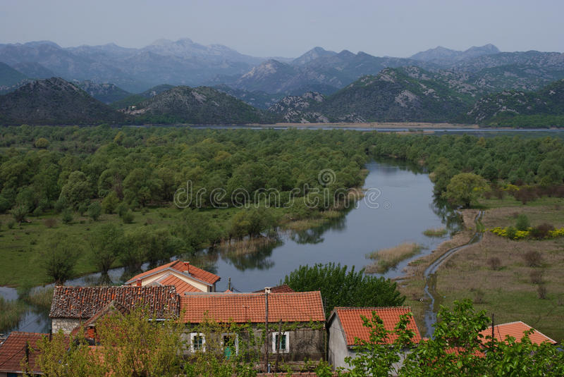 Village Over the River royalty free stock photo