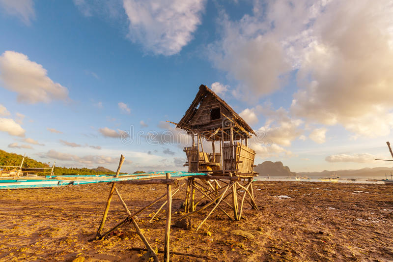 Village in Palawan stock photography