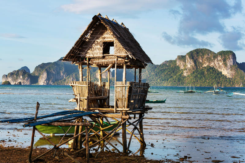 Village in Palawan royalty free stock photography