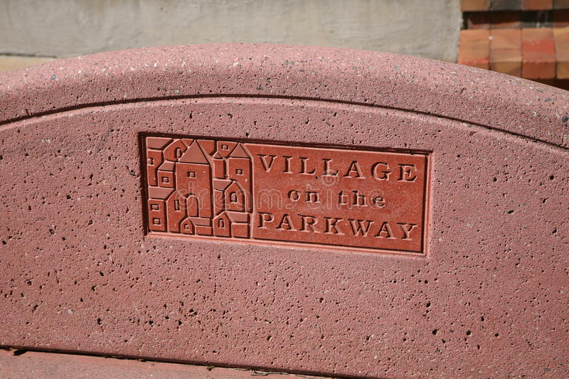 Village on the Parkway Bench, Dallas, TX stock photography