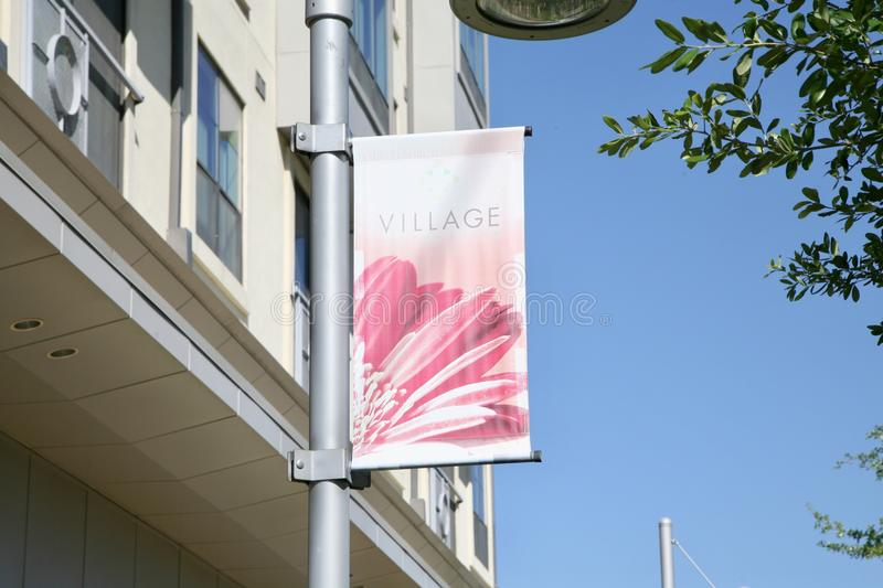 Village on the Parkway Street Sign, Dallas, TX royalty free stock photography