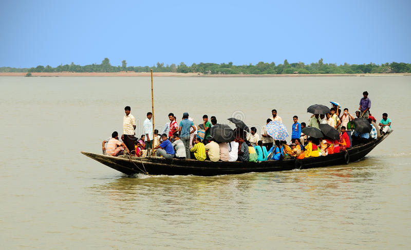 Village Passenger Boat Editorial Stock Image