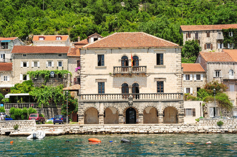 Village of Perast on the bay of Kotor royalty free stock image