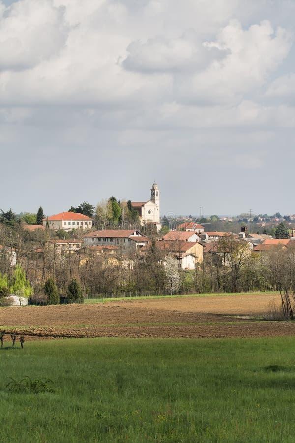Village in Piedmont, Italy. Mezzomerico a small italian Village in Piedmont stock photo