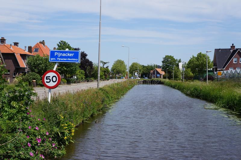 Pijnacker, the Netherlands. The village of Pijnacker, Pijnacker-Nootdorp municipality, the Netherlands royalty free stock image
