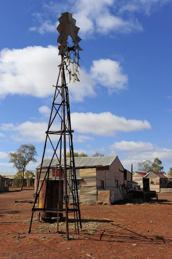 Village pionnier dans l'intérieur Australie images libres de droits