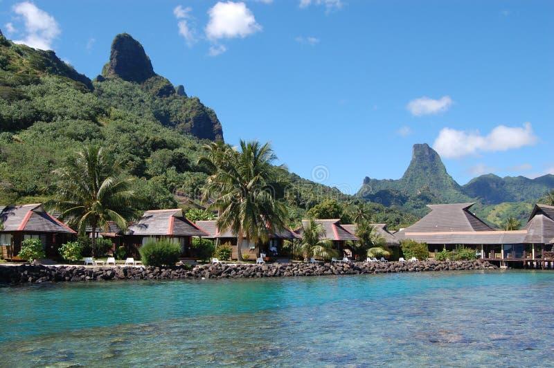 Village polynésien photos libres de droits