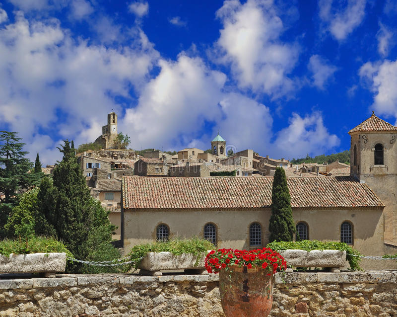 Download Village In Provence stock image. Image of vase, clock - 17859993
