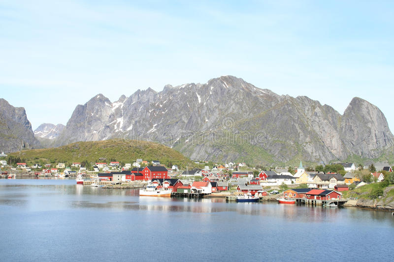 The village of Reine in Lofoten royalty free stock photography